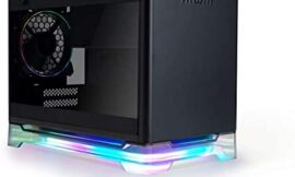 InWin A1 Plus Black Mini-ITX Tower with Integrated ARGB Lighting – 650W Gold Power Supply – Qi Wireless Phone Charger – Computer Chassis Case