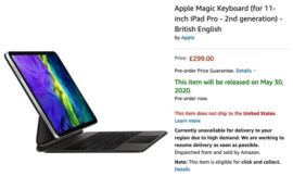 Apple's Magic Keyboard for iPad Pro up for preorder on Amazon, supposedly ships on May 30