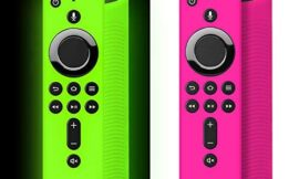 [2Pack]SiliconeRemote Casefor4k Firestick, Cover for Fire Stick, Fire Stick with Remote for Fire TV (3rd Gen)/Fire TV Cube(Green Glow)