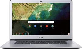 Acer Chromebook 15, Intel Celeron N3350, 15.6″ Full HD Touch, 4GB LPDDR4, 32GB Storage, Google Chrome, Pure Silver, CB515-1HT-C2AE, 15-15.99 Inches