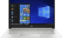 HP 14-Inch Laptop, 7th Gen AMD A9-9425, 4 GB SDRAM Memory, 128 GB Solid-State Drive, Windows 10 Home in S Mode (14-dk0020nr, Natural Silver)