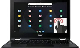 Acer Spin 11 2-in-1 Convertible 11.6″ HD Touchscreen WLED-Backlit Chromebook, Intel Celeron N3350 Processor, 4GB Memory, 32GB eMMC, Bluetooth, WiFi, Webcam, Google Chrome OS, Obsidian Black