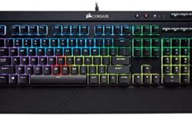 Corsair Ok68 RGB Mechanical Gaming Keyboard, Backlit RGB LED, Mud and Spill Resistant – Linear & Quiet – Cherry MX Purple