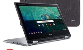 Acer Chromebook Spin 11 Convertible Laptop, Intel Celeron N3350, 11.6″ HD Touch Display, 4GB DDR4, 32GB eMMC, 802.11ac WiFi, Wacom EMR Pen, Sleeve, CP311-1HN-C2DV