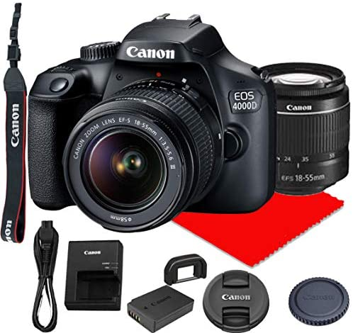 Read more about the article Canon EOS 4000D DSLR Camera w/Canon EF-S 18-55mm F/3.5-5.6 III Zoom Lens