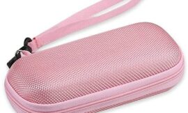 AGPTEK Carrying Case, EVA Zipper Carrying Hard Case Cover for Digital Voice Recorders, MP3 Players, USB Cable, Earphones, Bose QC20, Memory Cards, U Disk, Pink