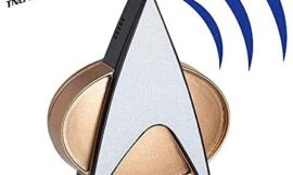 Star Trek Next Generation Bluetooth Communicator Badge – TNG Bluetooth Combadge with Chirp Sound Effects, Microphone & Speaker – Star Trek Memorabilia, Gifts, Collectibles, Gadgets & Toys for Startrek