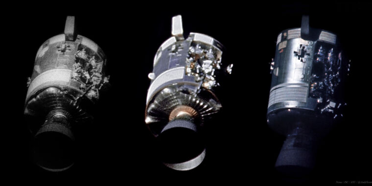 Here's an unprecedented look at Apollo 13's damaged Service Module