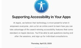 Ahead of WWDC, Apple Invites Some Developers to Attend Virtual Accessibility Session