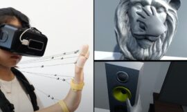 VR researchers show string haptic wearable that lets you feel objects