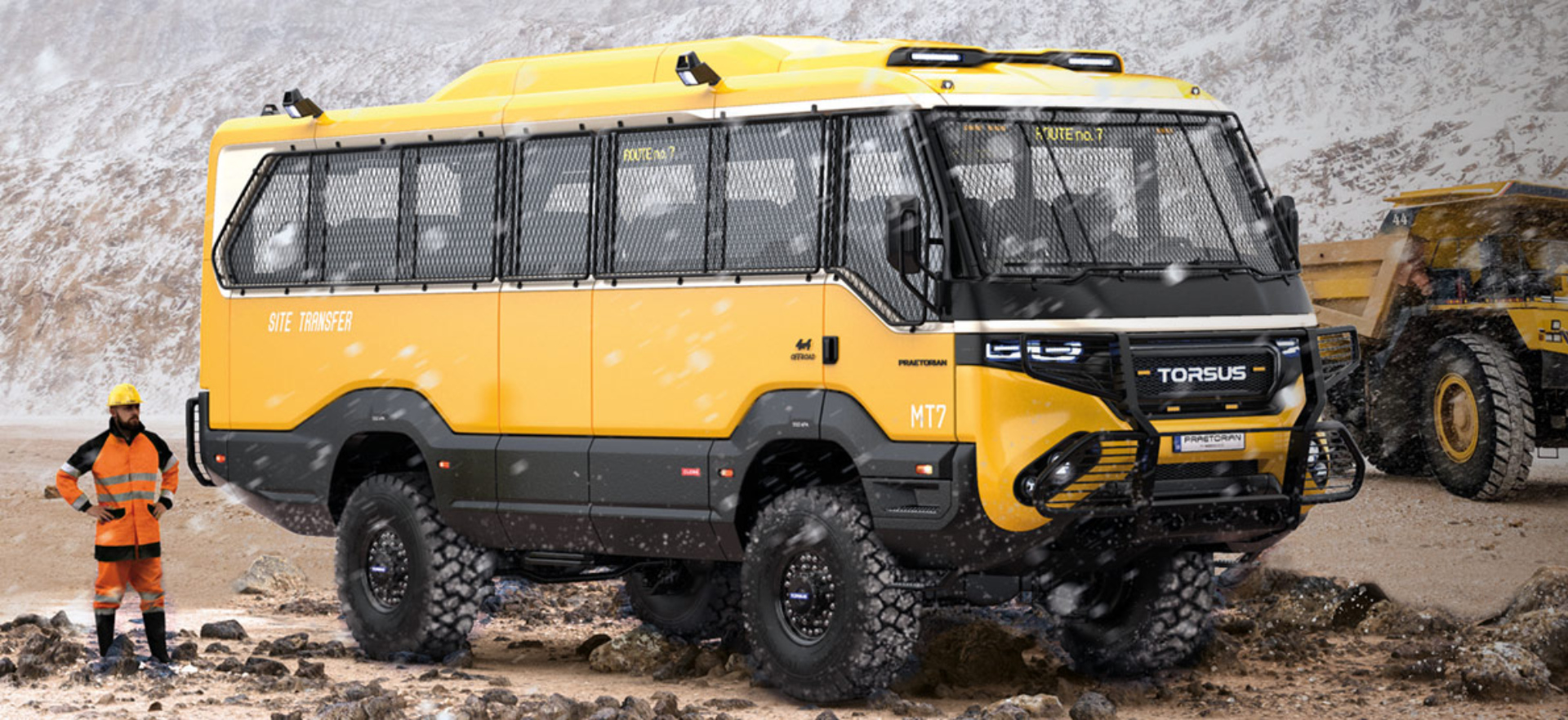Check out the world's first heavy-duty 4×4 off-road bus that's won a Red Dot Design Award