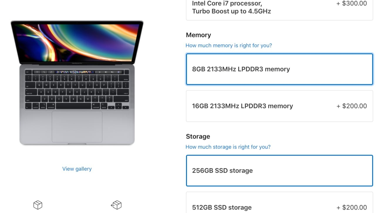 Apple doubles memory upgrade cost for entry-level 13-inch MacBook Pro