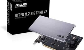 ASUS Hyper M.2 X16 PCIe 3.0 X4 Expansion Card V2 Supports 4 NVMe M.2 (2242/2260/2280/22110) Upto 128 Gbps for Intel VROC and AMD Ryzen Threadripper NVMe Raid