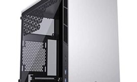 MetallicGear Neo Mini V2 Series Mini-ITX Case (MG-NE210_SR02), Compact Chassis, Sand Blasted Aluminum, Tempered Glass Panel, Liquid Cooling Ready – Silver