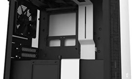NZXT H210 – CA-H210B-W1 – Mini-ITX PC Gaming Case – Front I/O USB Type-C Port – Tempered Glass Side Panel – Cable Management System – Water-Cooling Ready – Radiator Bracket – White/Black