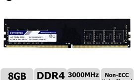 Timetec Extreme Performance Hynix IC 8GB DDR4 3000MHz PC4-24000 CL16 1.35V Unbuffered Non-ECC Single Rank Designed for Gaming and High-Performance Compatible with AMD and Intel Desktop Memory (8GB)