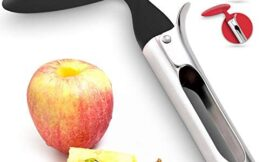 Premium Apple Corer – Easy to Use and Durable Apple Corer Remover for Pears, Bell Peppers, Fuji, Honeycrisp, Gala and Pink Lady Apples – Stainless Steel Best Kitchen Gadgets Cupcake Corer, by Zulay