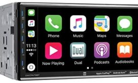 Dual Electronics 7″ Double Din Mechless Digital Media Receiver with Apple CarPlay Android Auto