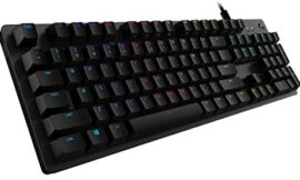 Logitech G512 Carbon LIGHTSYNC RGB Mechanical Gaming Keyboard with GX Red switches – Linear