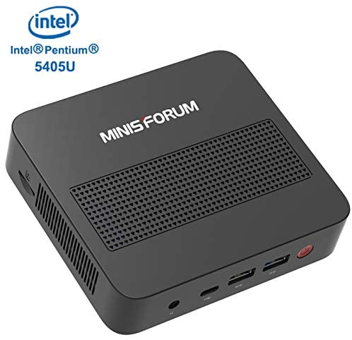 Mini PC Expandable RAM 8GB DDR4 128GB SSD Intel Pentium Gold 5405U Processor (2.30 GHz) Windows 10 Pro with 4K@60Hz HDMI/Mini DP/USB-C Output,4 xUSB Ports,Mounting Bracket