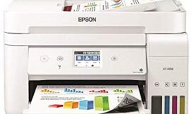 Epson EcoTank ET-4760 Wireless Color All-in-One Cartridge-Free Supertank Printer with Scanner, Copier, Fax, ADF and Ethernet – White