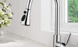 SOKA SK5002C Single Handle Kitchen Faucet Stainless Steel High Arc Modern Style Aquablade Sweep, Stream & Spray Fit for One & 3 Hole, Chrome