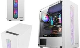 Gaming Case, Mid-Tower ATX/M-ATX/ITX PC Gaming Computer Case,Fully Transparent On The Sides,for Desktop PC Computer (Color : White)