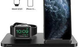 Seneo 2 in 1 Wireless Charger, Dual Wireless Charging Station with iWatch Charger Stand for iWatch 5/4/3/2, 7.5W Qi Fast Charger for iPhone 11/11 Pro Max/XR/XS/X/8/8P (No iWatch Cable or Adapter)