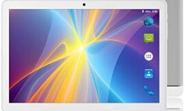 Android Tablet 10 Inch, Android 8.1 Go Unlocked Tablet PC, 3G Phablet with Dual SIM Card Slots, Google Certified, 1.3GHz, 1G+16GB, Dual Camera, WiFi, Bluetooth, GPS – Silver