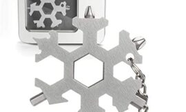 Snowflake Multi Tool 19-in-1 Stainless Steel Multitool Keychain Bottle Opener/Screwdriver/Portable Outdoor Travel Camping Multi Function Pocket MultiTool Gadgets for Men (19-1 Snowflake)