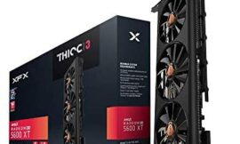 XFX RX 5600 XT Thicc III PRO – 14GBPS 6GB GDDR6 Boost UP to 1750MHz 3xDP HDMI Graphics Card RX-56XT6TF48