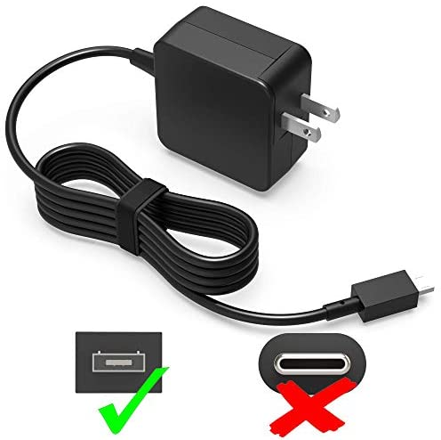 UL Listed AC Charger for Asus Chromebook Flip C100 C100PA C100P C201PA C201P C201 C100PA-DB02 C201PA-DS02 ADP-24EW B Notebook PC Laptop Power Supply Adapter Cord 7.5FT (Square tip not fit Type C)