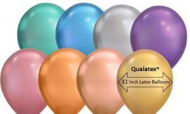 Qualatex® 11″ Chrome 8 Color Assortment Latex Balloons (50 ct)