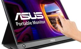 Asus Zenscreen MB16AMT 15.6″ Full HD Portable Monitor Touch Screen IPS Non-Glare Built-in Battery and Speakers Eye Care USB Type-C Micro HDMI W/Foldable Smart Case
