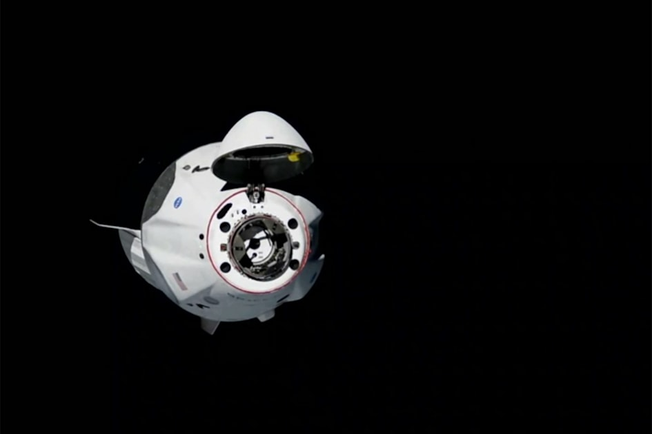 SpaceX Crew Dragon docks with the International Space Station