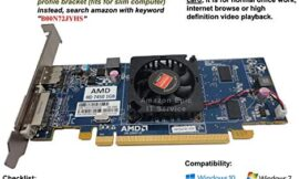Epic IT Service – AMD Radeon HD 7450 1GB/1024MB Low Profile Graphics Card (Full Size Bracket), fits Normal Size Computer only