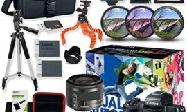 Canon EOS M50 Mirrorless Digital Camera (Black) with 15-45mm Video Creator Kit with Premium Accessory Bundle