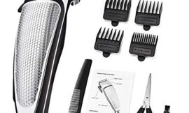 Electric Hair Clipper Household Professional Hair Cutting Clipper Hair Care Tools Hair Trimming Machine Professional Hair Cutting Clipper (Silver)