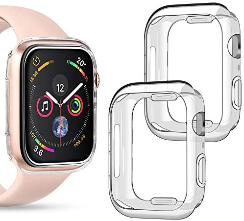 Read more about the article Goton Compatible iWatch Apple Watch Case 40mm Series 4 5, (2 Packs) Soft TPU Shockproof Case Cover Bumper Protector (Clear and Clear, 40mm)