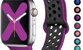 Henva Compatible with Apple Watch Band 38mm 40mm 42mm 44mm, Replacement Accessories Breathable Sport Band Wristbands with Air Holes for iWatch Series 5, Series 4, Series 3, Series 2, Series 1, S/M M/L