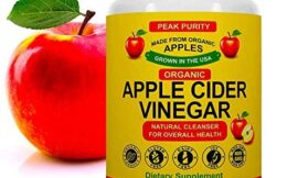 100% Organic Raw Apple Cider Vinegar Capsules – Natural Detox Gut Cleanse & Healthy Digestion – Tasteless & Easy to Swallow – Extra Strength ACV Pills – 1000 mg