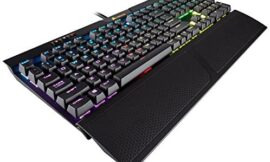 CORSAIR K70 RGB MK.2 Mechanical Gaming Keyboard – USB Passthrough & Media Controls – Tactile & Clicky – Cherry MX Blue – RGB LED Backlit