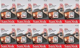 SanDisk Ultra 16GB (10 Pack) Class 10 80MBps SD Memory Card SDHC UHS-I SDSDUNC-016G-GN6IN