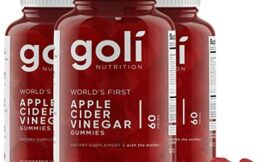 World's First Apple Cider Vinegar Gummy Vitamins by Goli Nutrition – Immunity, Detox & Weight (3 Pack, 180 Count, with The Mother, Gluten-Free, Organic, Vegan, Vitamin B9, B12, Beetroot, Pomegranate)