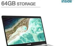 2019 Newest Asus Chromebook 15.6″ Full HD Touchscreen 1080p, Intel N4200 Quad-Core Processor 2.5GHz, 4GB RAM, 64GB Storage, Brushed Aluminum Chassis