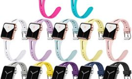 Ouwegaga Bands Compatible with Apple Watch 38mm 40mm 42mm 44mm iWatch Series 5 4 3 2 1 Women Men Water Resistant Straps Multi Color Combo