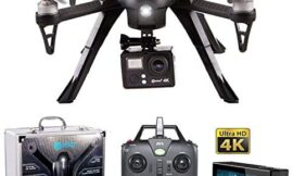 Contixo F17+ RC Quadcopter Photography Drone 4K Ultra HD Camera 16MP, Brushless Motors, 1 High Capacity Battery, Supports GoPro Hero Cameras, Alum Hard Case (Renewed)