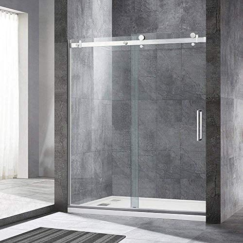 Read more about the article WOODBRIDGE Deluxe Frameless Sliding Shower, 56″-60″ Width, 76″ Height, 5/16″ Clear Tempered Glass, Finish, Designed for Smooth Door Closing. MSDF6076-C, F-Series: 60″ x 76″ Chrome