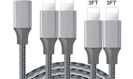 iPhone Charger,Live2Pedal Lightning Cable 3/3/6/6/10FT 5Pack Nylon Braided USB Charging Cable High Speed Data Sync Transfer Cord Compatible with iPhone 11/11 Pro Max/XS MAX/XR/XS/X/8/7/Plus/6S/iPad