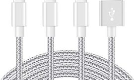iPhone Charger [MFi Certified] 3Pack 10 FT Lightning Cable Nylon Braided USB Charging Cord Compatible with iPhone 11/XS/XS Max/XR/X/8/8Plus/7/7Plus/6/6S Plus/SE/5/iPad/Nano,Silvergrey